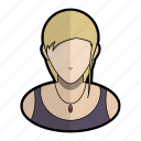 avatar, girl, hippie, profile, rebel, user, woman icon