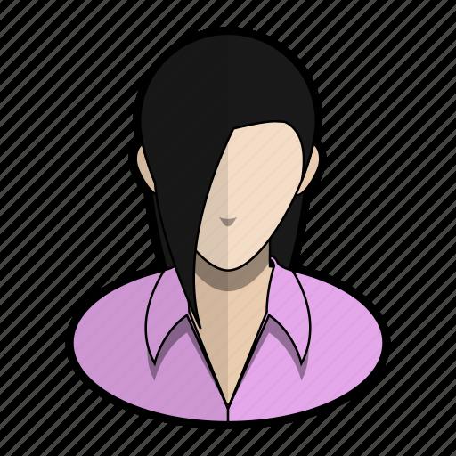 avatar, pink, profile, seductive, shirt, user, woman icon
