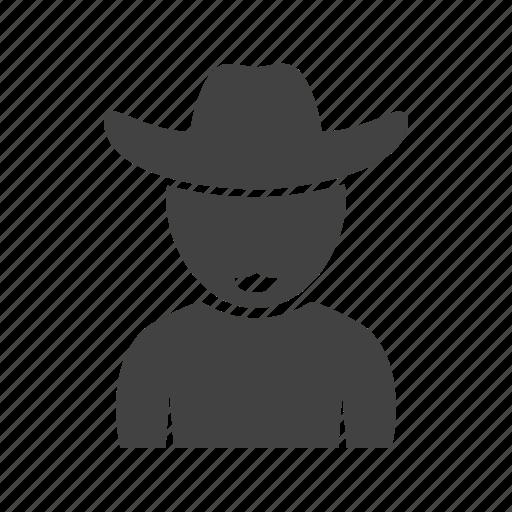 boy, cowboy, hat, in icon