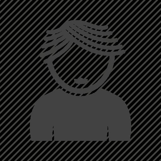 boy, hair, wavy, with icon