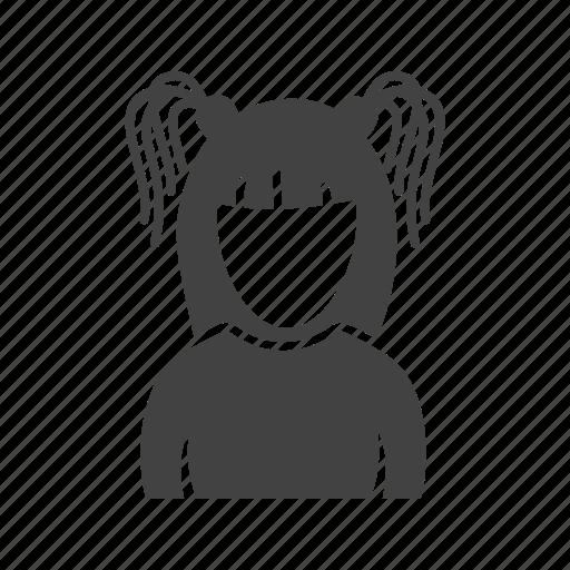 girl, gothic, hairstyle, pony icon