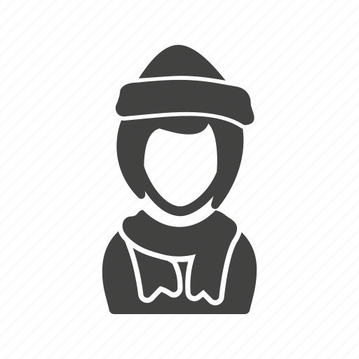 cap, girl, in, winter icon