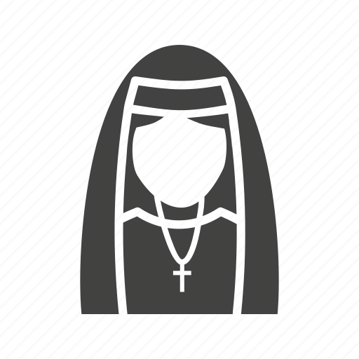dress, in, lady, nun icon