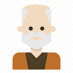 aging, beard, glabrous, mustache, oldman icon