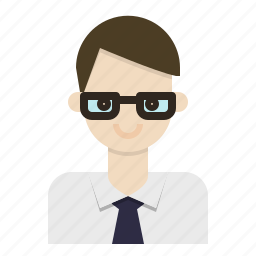 avatar, business, glasses, man, office icon