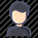 asian, avatar, man, sweater, user icon