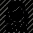avatar, curly, hair, user, white, woman