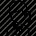 avatar, ponytail, user, white, woman