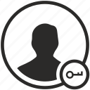 biometry, data, key, open, person
