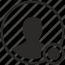 avatar, online, person, status, web icon