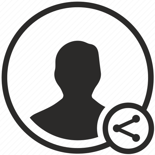 data, login, person, share, user icon