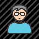 boy, fashion, glasses, happy, nerd, style
