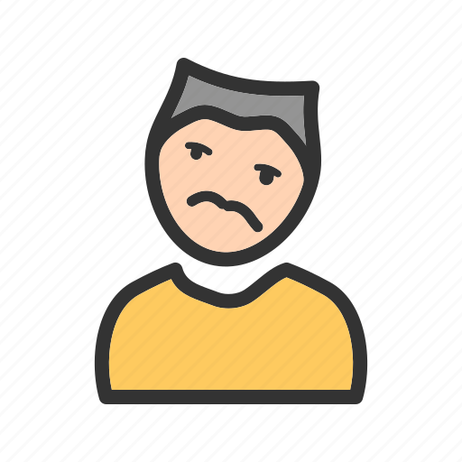 angry, expression, face, funny, mad, man, weird icon
