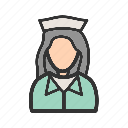 doctor, girl, healthcare, medical, nurse, uniform, work icon