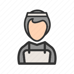 cleaner, cleaning, hotel, maid, room, service, uniform icon