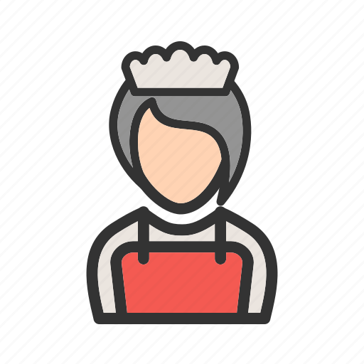 butler, girl, order, restaurant, service, serving, waiter icon