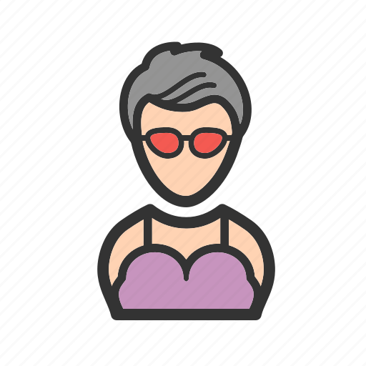 fun, girl, glasses, look, stylish, young icon
