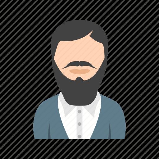 beard, in, long, man icon