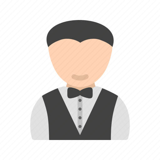 as, man, manager, waiter icon
