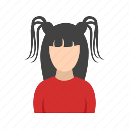 girl, gothic, ponies, two icon