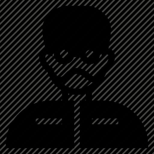 avatar, boy, glasses, male, man, person, user icon