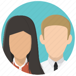 business people, couple, friends, group, managers, office people, office workers icon