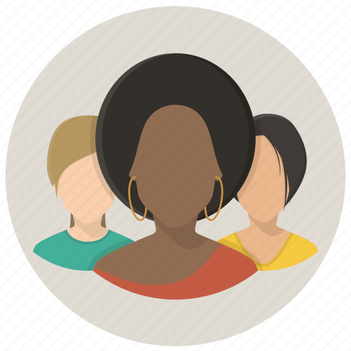 business women, contacts, group, members, people, team, users icon