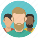 avatar, contacts, creative people, friends, group, hipsters, members icon