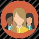 avatar, friends, friendship, girls, group, people, team icon