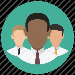 businesmen, group, men, office people, office workers, people, team icon