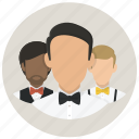 avatar, businesmen, gentlmen, group, men, people, persons icon