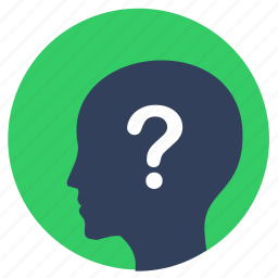 avatar, head, man, mind, question, skin icon