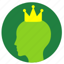 avatar, birthday, crown, head, man icon