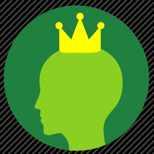 avatar, birthday, crown, head, man icon