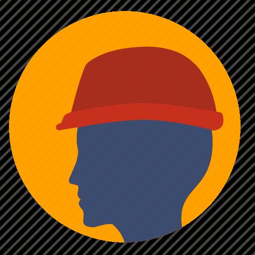 avatar, builder, head, helmet, man, safety icon