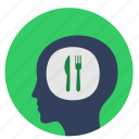 avatar, eat, food, head, man icon