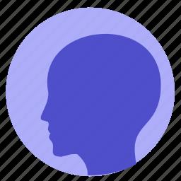 avatar, head, human, man icon