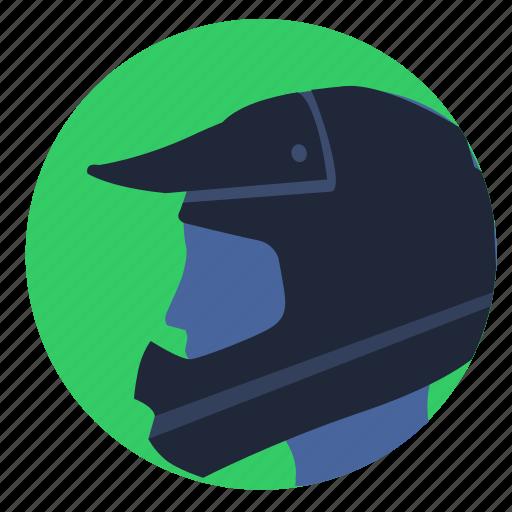 avatar, head, helmet, man, moto, race, sport icon