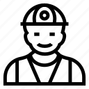 avatar, boy, construction, male, man, person, user icon