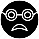 emoji, emotag, emoticon, frightened emoji, scared face icon