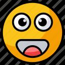 emoticon, emotion, funny emoji, happy emoji, smiley icon