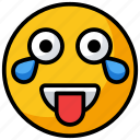 emoticon, funny emoji, happy emoji, laughing, smiley icon