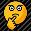confused emoji, emotag, emoticon, smiley, woozy emoji icon