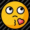 blow kiss, emotag, emoticon, heart kiss, kiss emoji, love emoji, smiley icon