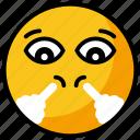 angry emoji, emoji, emotag, emoticon, huffing emoji icon
