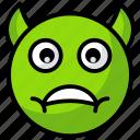 devil emoji, devil face, emotag, emoticon icon