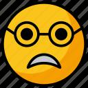 emoji, emotag, emoticon, frightened emoji, scared face emoji icon