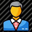 businessman, employer, entrepreneur, man, professional icon