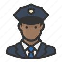 avatars, cop, man, police icon