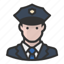 cop, man, officer, police icon